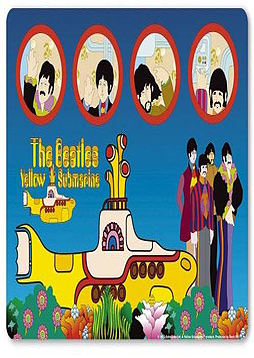 The Beatles Yellow Submarine Mouse Mat PC