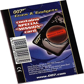 James Bond Guns And Gadgets Playing Cards Traditional Games