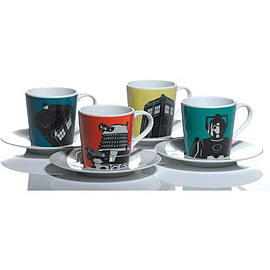 Dr Who Character Espresso Set Home - Tableware