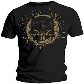 Batman Gold Skull Mask Double Extra Large Clothing