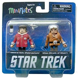 Star Trek Admiral Kirk And Khan Mini Mates Figure Set Figurines and Sets