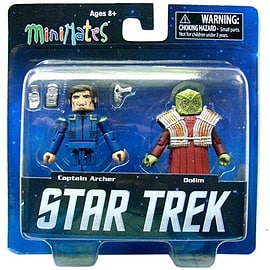 Star Trek Captain Archer And Dolim Mini Mates Figure Set Figurines and Sets