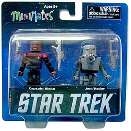 Star Trek Captain Sisko And Jem Hadar Mini Mates Figure Set Figurines and Sets