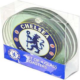 Chelsea Football Club Club Crest Coaster Set Home - Tableware