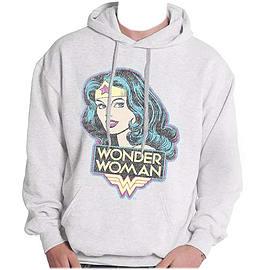 Wonder Woman Retro Logo Ladies Hoody Double Extra Large Clothing
