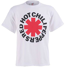 Red Hot Chili Peppers Red Asterix Double Extra Large Clothing