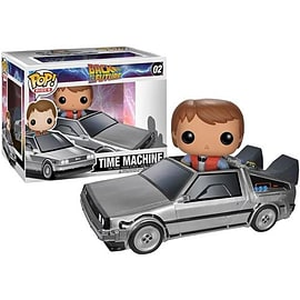 Back To The Future Delorean Time Machine Pop Rides Vinyl Figure Figurines and Sets