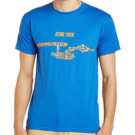 Star Trek Ships Of The Line [Blue] Double Extra Large Clothing