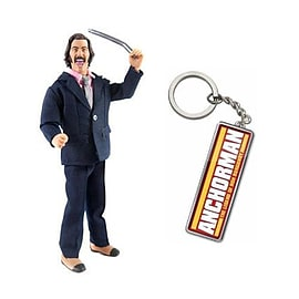 Anchorman Battle Ready Brian Action Figure FREE Keychain Figurines and Sets