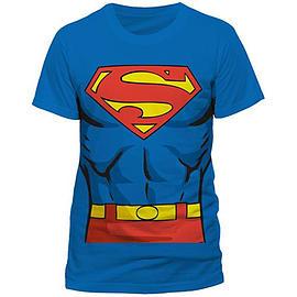 Superman Costume Print Double Extra Large Clothing