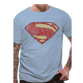 Superman Man Of Steel Distressed Double Extra Large Clothing