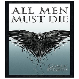 Game of Thrones Black Wooden Framed All Men Must Die Maxi Poster 61x91.5cm Posters