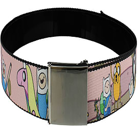 Adventure Time Land Of Oooo Web Baby Pink Belt: One Size Clothing