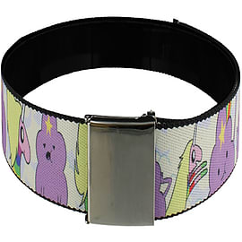 Adventure Time Lumpy Space Princess & Lady Rainicorn Web White Belt: One Size Clothing