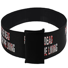 The Walking Dead Fight The Dead Fear The Living Web Black Belt: One Size Clothing