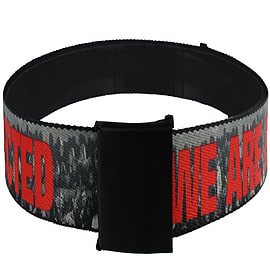 The Walking Dead Zombie Infection Web Grey Belt: One Size Clothing