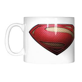 Superman Man of Steel Logo White Mug Home - Tableware