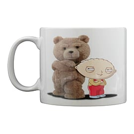 Family Guy X Ted Stewie & Ted White Mug Home - Tableware