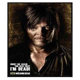The Walking Dead Daryl Gloss Black Framed Shoot Me Again Maxi Poster 61x91.5cm Posters