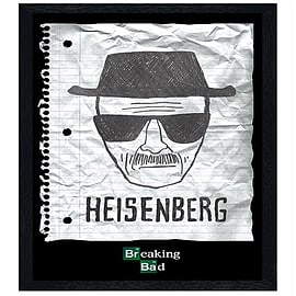 Breaking Bad Black Wooden Framed Heisenberg Wanted Poster Maxi Poster 61x91.5cm Posters