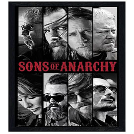 Sons of Anarchy Black Wooden Framed Collage SoA Maxi Poster 61x91.5cm Posters