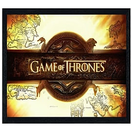 Game of Thrones Black Wooden Framed Title Card Maxi Poster 91.5x61cm Posters