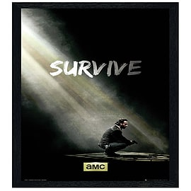 The Walking Dead Black Wooden Framed Survive Maxi Poster 61x91.5cm Posters
