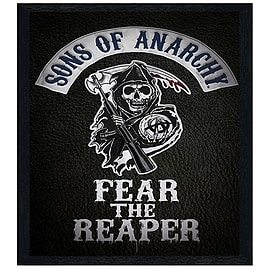 Sons of Anarchy Black Wooden Framed Fear The Reaper SoA Maxi Poster 61x91.5cm Posters