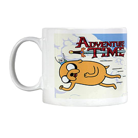 Adventure Time Flying Friends White Mug Home - Tableware