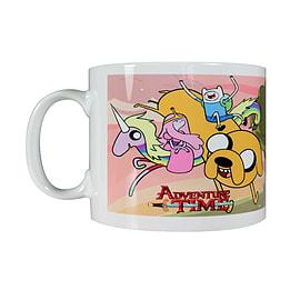 Adventure Time Rainicorn & Friends White Mug Home - Tableware