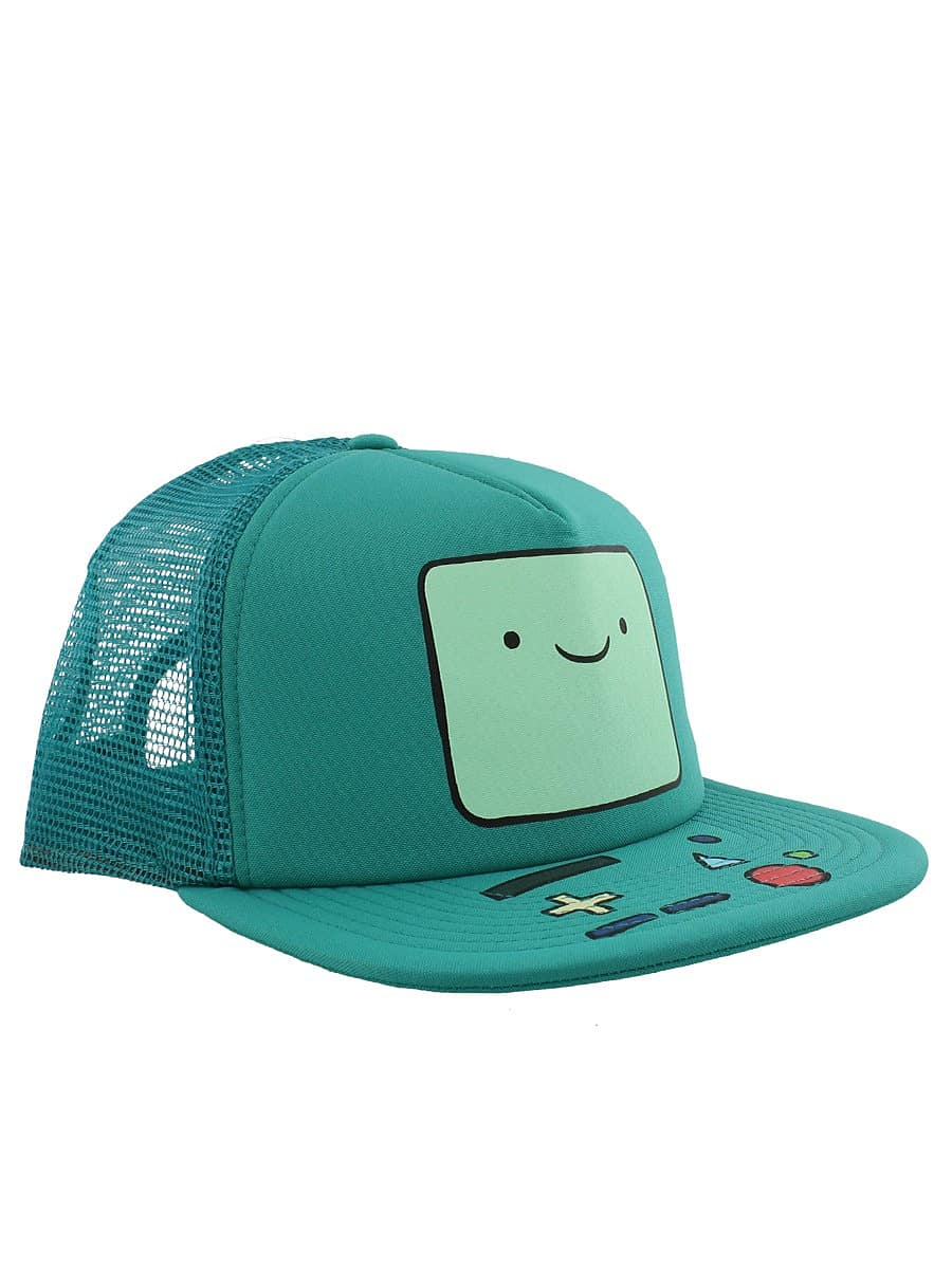Adventure Time Beemo Trucker Snapback Turquoise Cap: One size Fits All screen shot 1