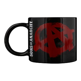 Sons of Anarchy Red Symbol Black SoA Mug Home - Tableware