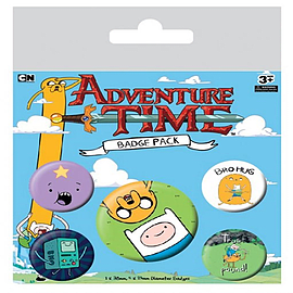 Adventure Time Bro Hug Badge Pack 10x12.5cm Badges