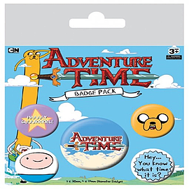 Adventure Time What Time Is It Badge Pack 10x12.5cm Badges
