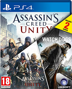 Assassin's Creed: Unity & WatchDogs Double Pack - Only at GAME PlayStation 4