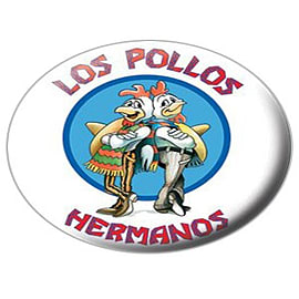 Breaking Bad Los Pollos Hermanos Badge 2.5x2.5cm Badges