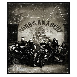 Sons of Anarchy Gloss Black Framed Vintage Bikers SoA Maxi Poster 61x91.5cm Posters