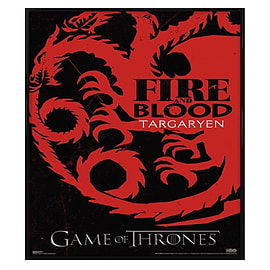 Game of Thrones Gloss Black Framed Targaryen Si Maxi Poster 61x91.5cm Posters