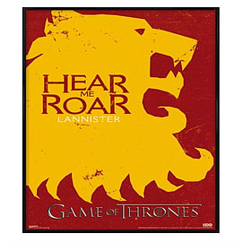Game of Thrones Gloss Black Framed Lannister Si Maxi Poster 61x91.5cm Posters