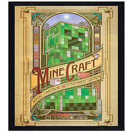 Minecraft Black Wooden Framed Mojang Computronic Entertainment Dispensary Maxi Poster 61x91.5cm Posters