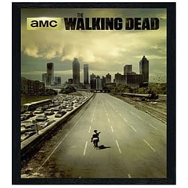 The Walking Dead Black Wooden Framed Rick Grimes Maxi Poster 61x91.5cm Posters