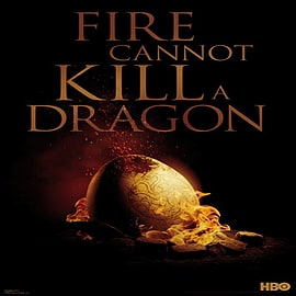 Game of Thrones Fire Cannot Kill A Dragon Poster 61x91.5cm Posters