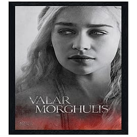 Game of Thrones Black Wooden Framed Daenerys Valar morghulis Maxi Poster 61x91.5cm Posters