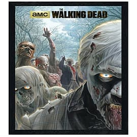 The Walking Dead Black Wooden Framed Zombie Hordes Maxi Poster 61x91.5cm Posters