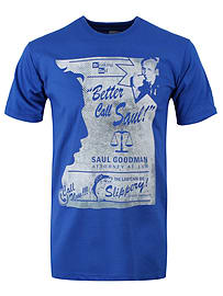Breaking Bad Better Call Saul Blue Men's T-shirt: Large (Mens 40- 42) Clothing