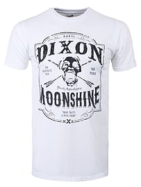 The Walking Dead Dixon Moonshine White Men's T-shirt: Small (Mens 36 - 38) Clothing
