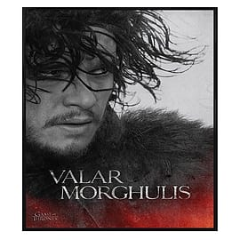 Game of Thrones Gloss Black Framed Jon Valar Morghulis Maxi Poster 61x91.5cm Posters