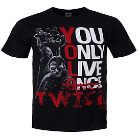 The Walking Dead YOLO Twice Black Men's T-shirt: Extra Large (Mens 42- 44) Clothing
