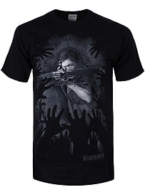 The Walking Dead Daryl Hands Black Men's T-shirt: Small (Mens 36 - 38) Clothing