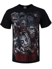 The Walking Dead Zombie Horde Black Men's T-shirt: Extra Large (Mens 42- 44) Clothing